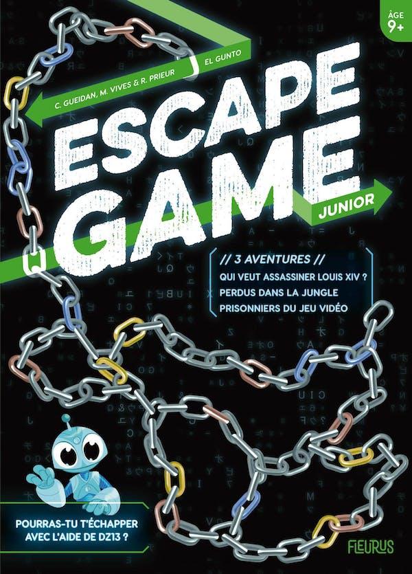 EscapeGame Junior: 3aventures (Perdus dans la jungle – Prisonniers du jeu vidéo – Qui veut assassiner Louis XIV ?)
